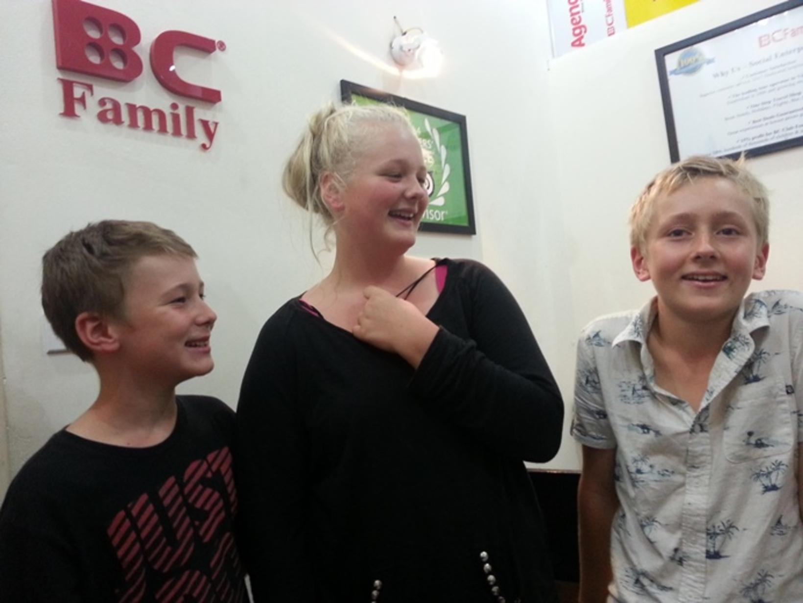 Tash, Ben, Seb - Cool kids from Frost Family