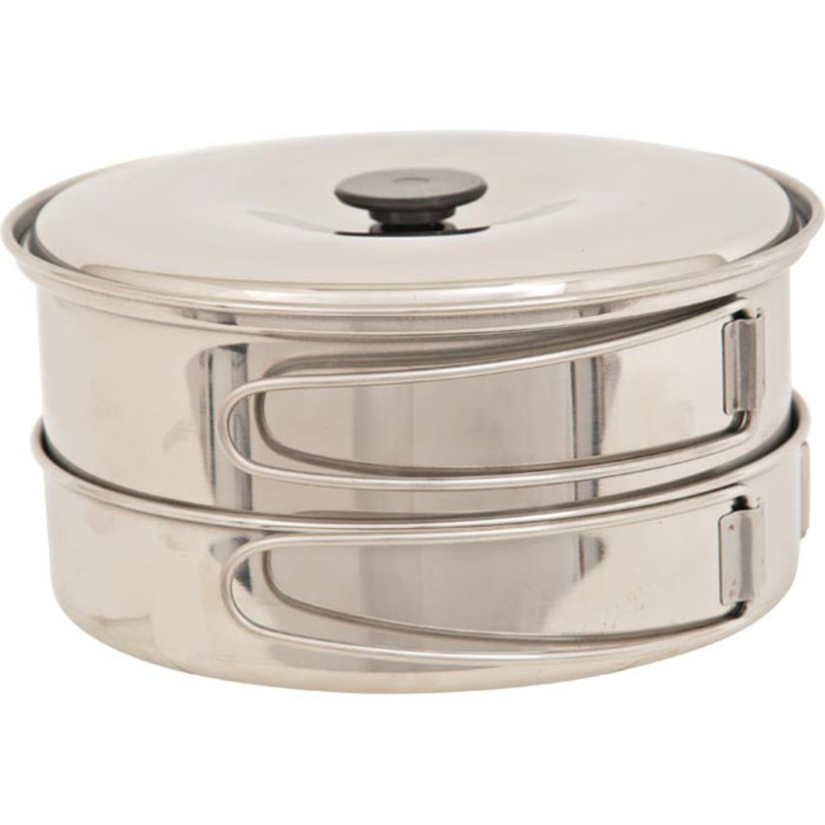 Small, stainless steel pot set