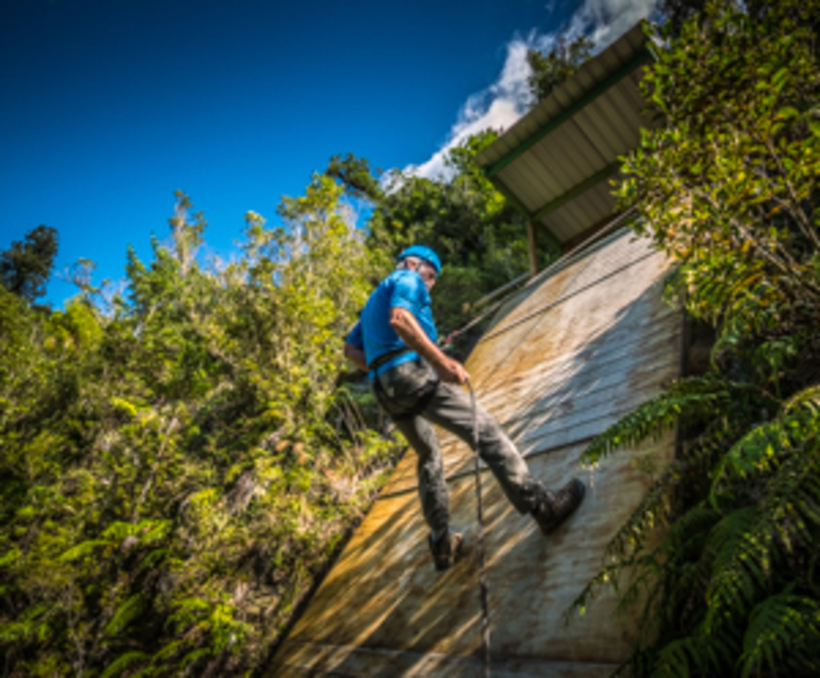 Abseiling cliff