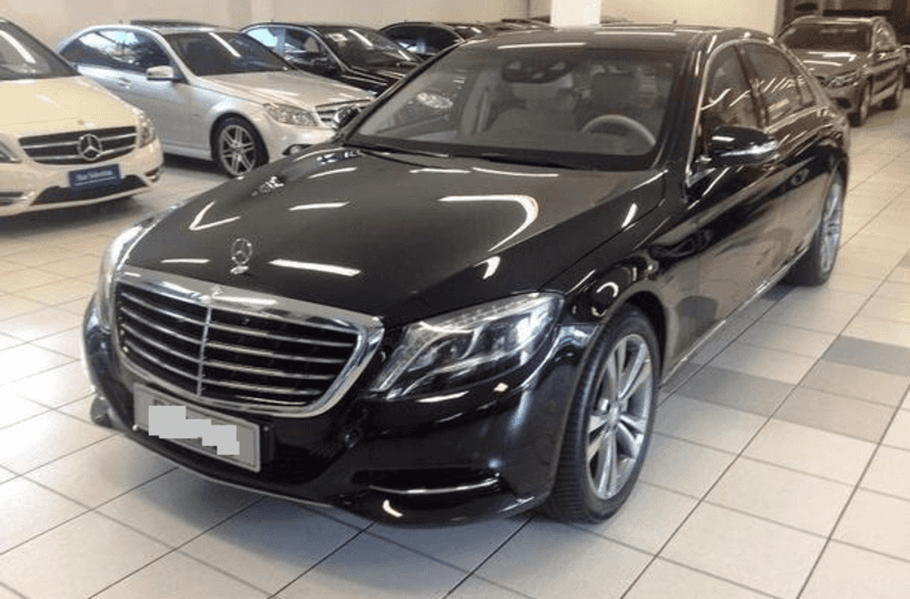 Armored Mercedes S550 available for Rent in Brazil from Diplomat Armored Rental| Armored Rental