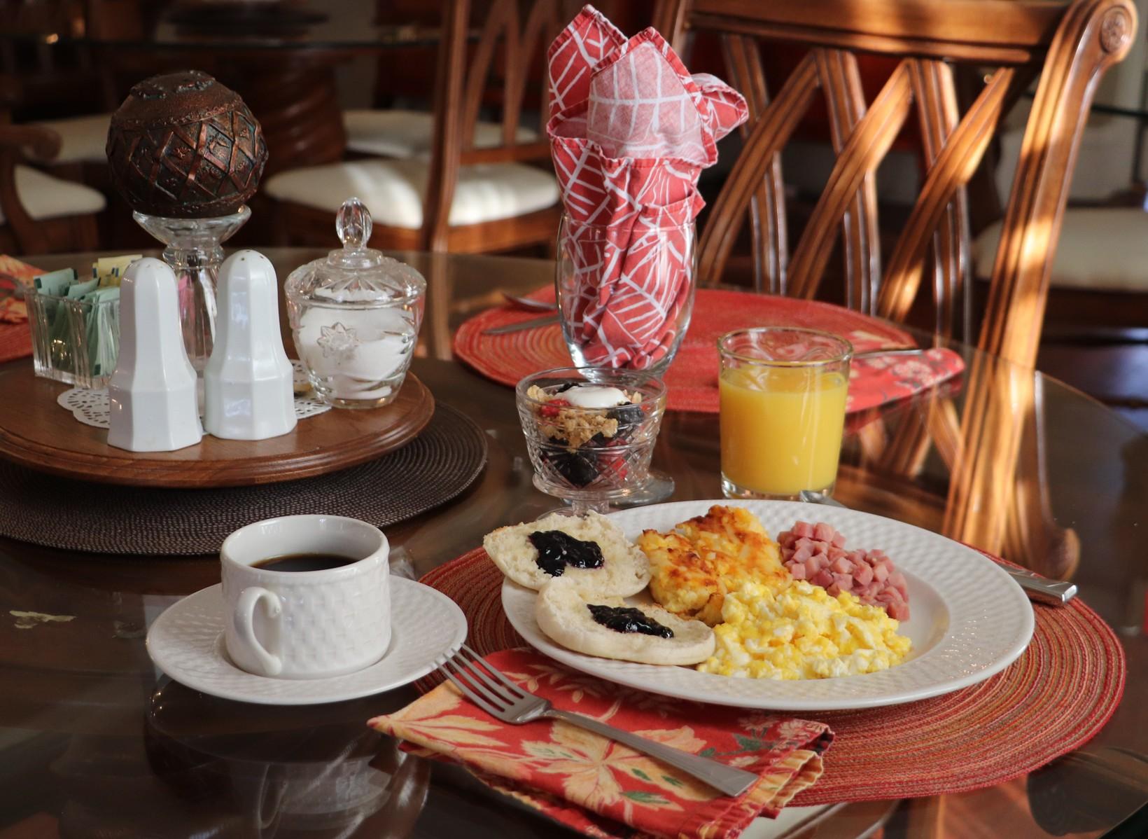 Fresh hot breakfast daily