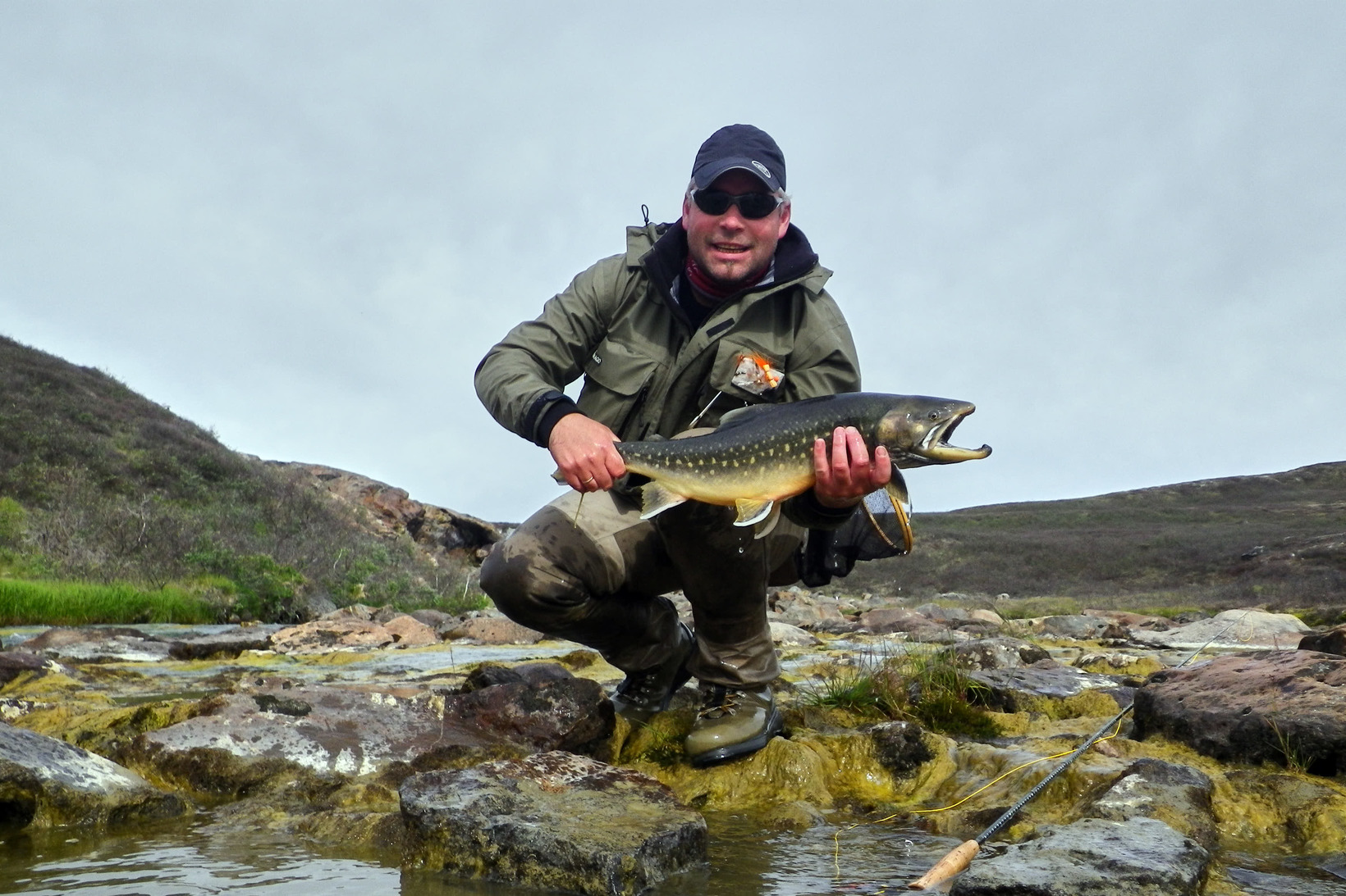 Flyfishing for char in Nuuk