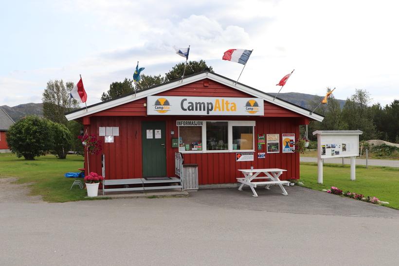CampAlta resepsjon/kiosk