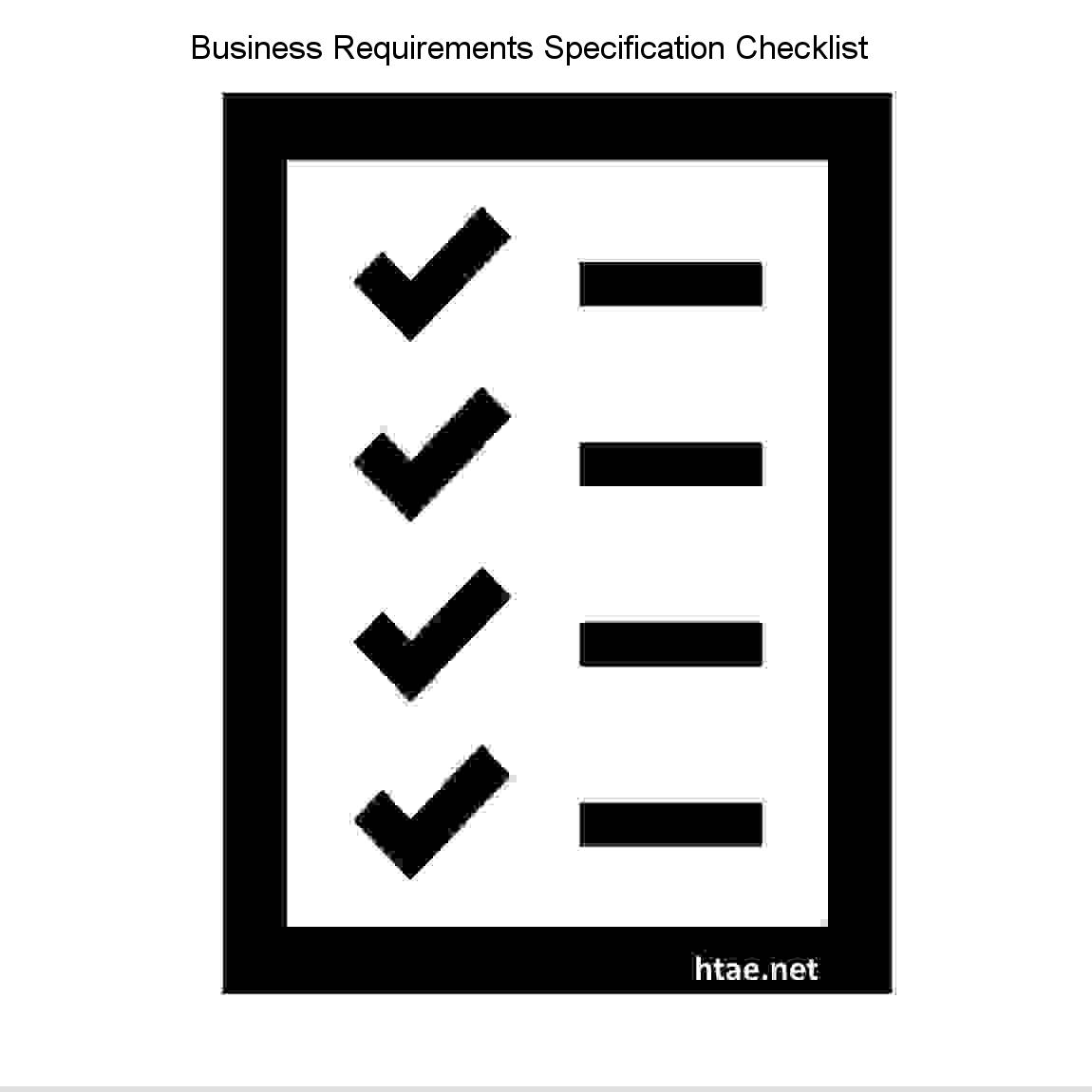 Business Requirements Specification Checklist Software Project - Business requirements software
