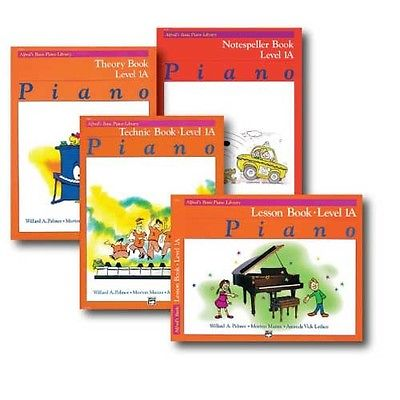 Alfred Basic Piano Library Course Pack Level 1A - Four book set includes -  Le