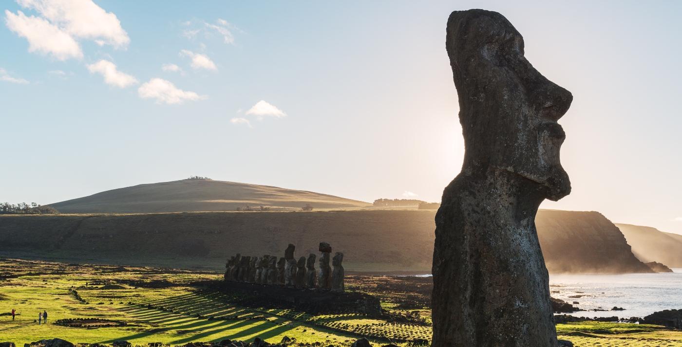 Imagen de los Moai de Rapa Nui