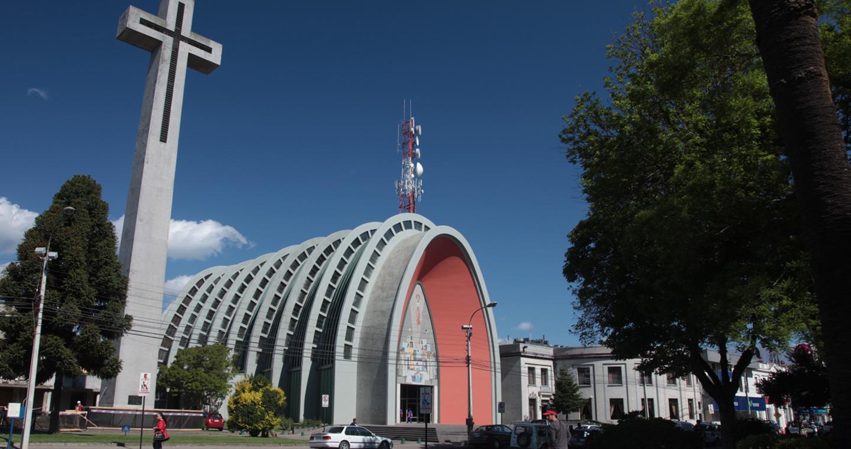 Imagen de la catedral de Chillán