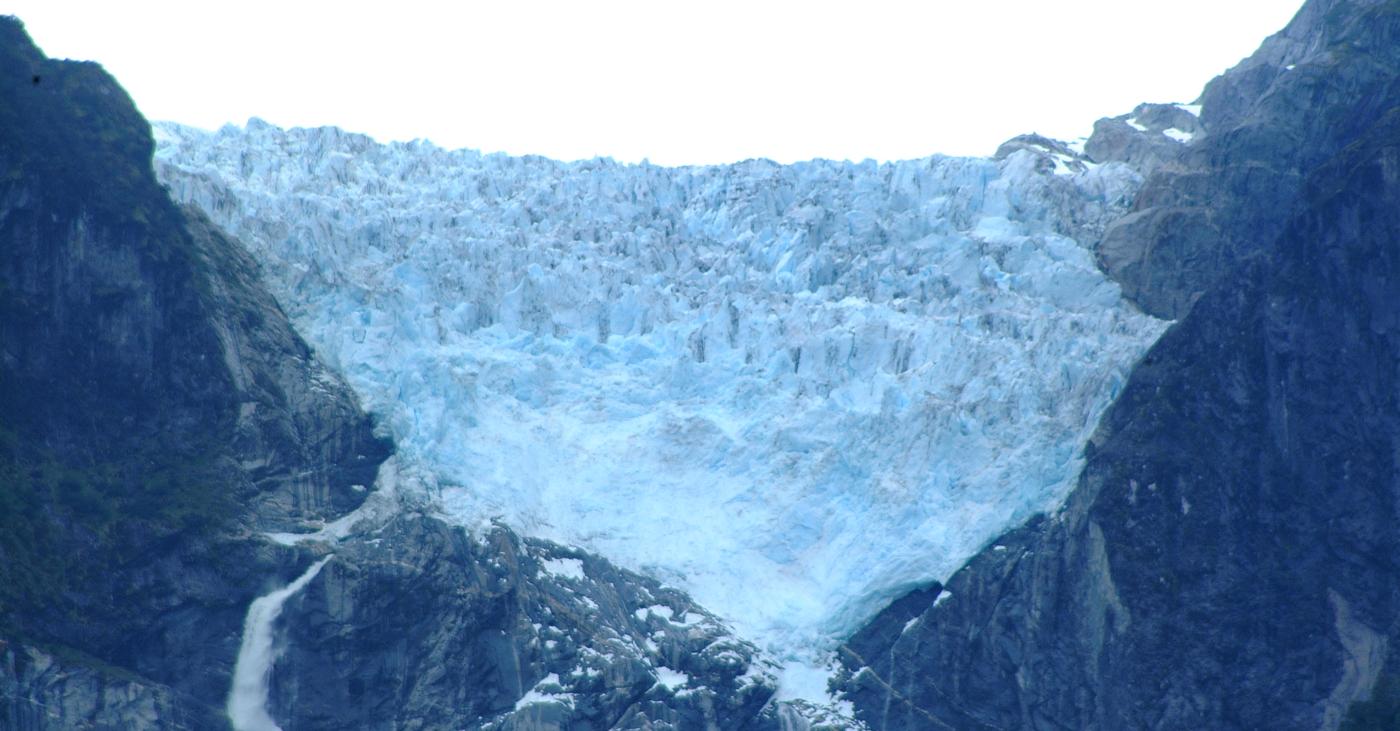 Imagen panorámica del Ventisquero Colgante de Parque Nacional Queulat