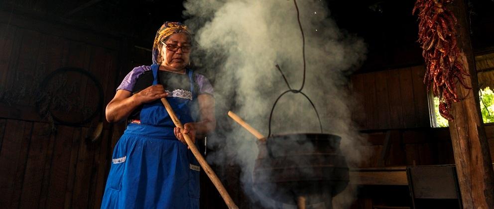 La gastronomía es una experiencia con el pueblo Mapuche