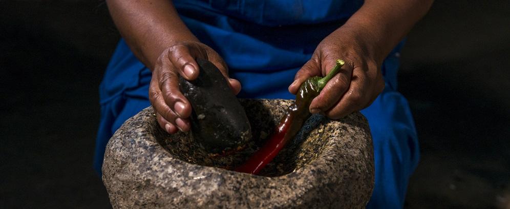 Preparar un plato es una experiencias con el pueblo Mapuche