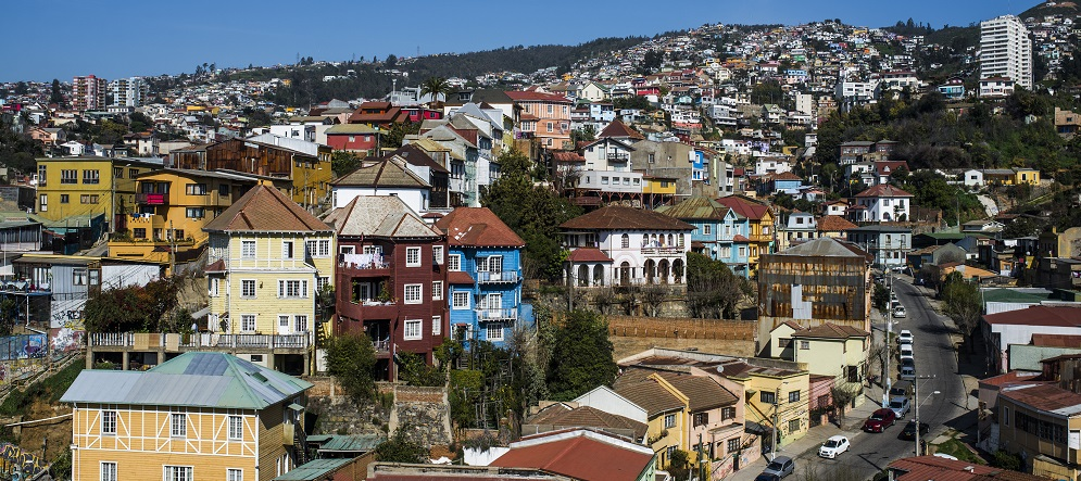 Valparaíso de Chile con su colorida arquitectura