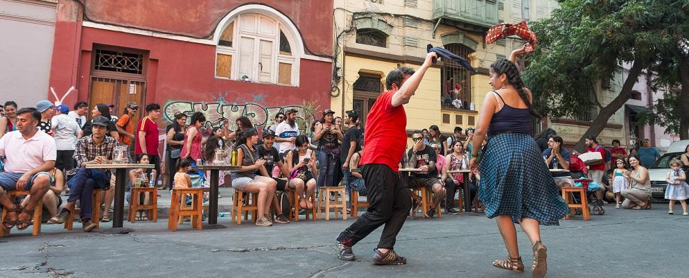 Santiago y alrededores: Baile de la Cueca en el centro de la capital