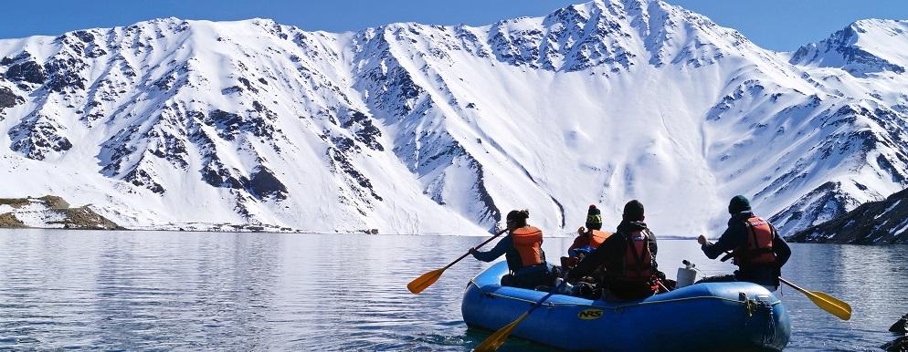 Santiago y alrededores: Navegación en bote en el Cajón del Maipo