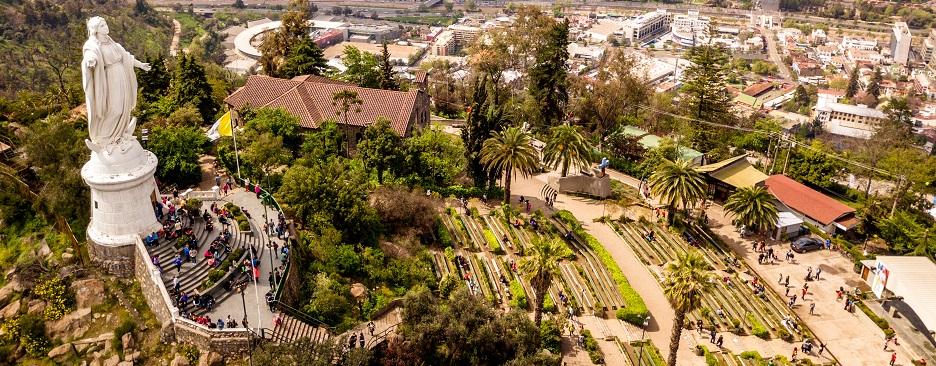 Santiago y Alrededores: Vista aérea desde el cerro San Cristobal