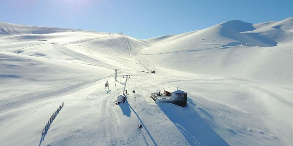 Imagen panorámica de uno d las estaciones de deslizamiento del Centro de Ski Antillanca