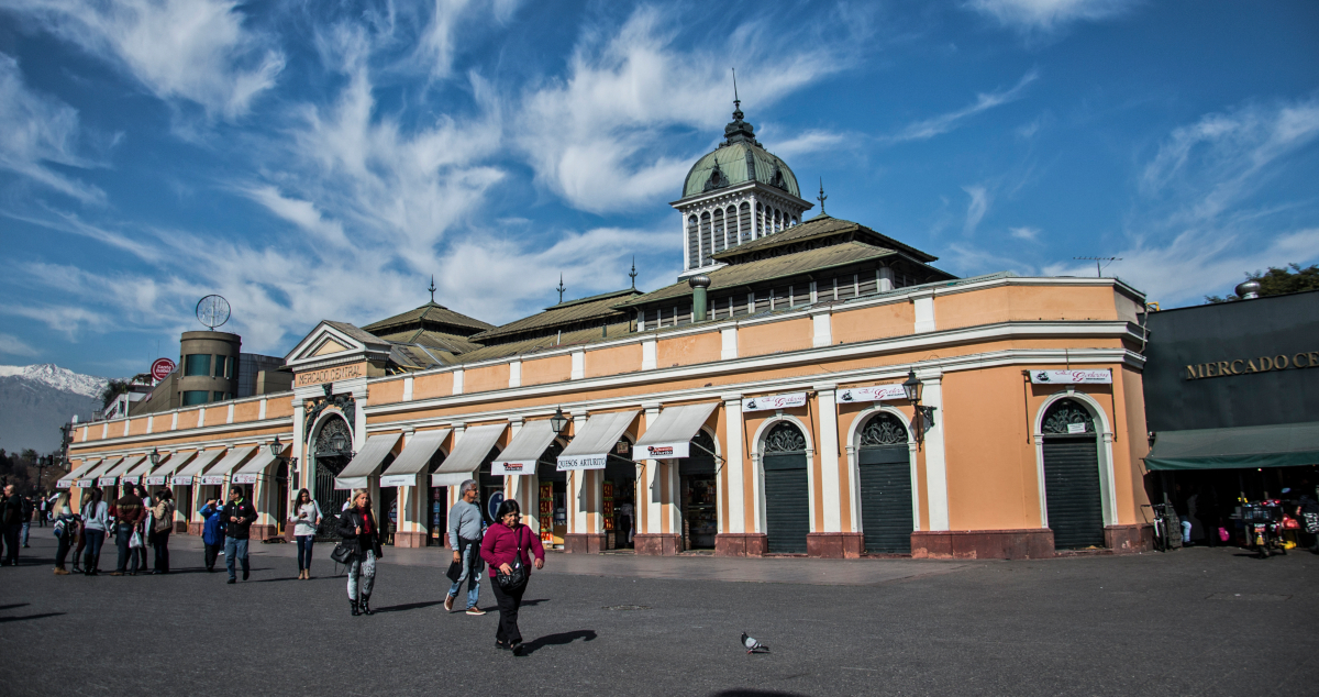 Imagen del edificio del Mercado Central de Santiago