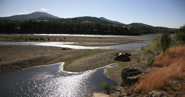imagen del Valle Las Trancas en la región del ñuble donde se ve un riachuelo en un día soleado