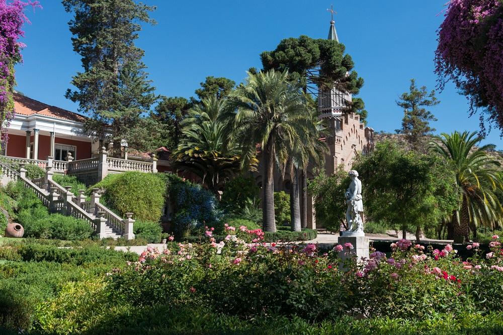 Des verts jardins situe dans le vignoble de l'isla de Maipo