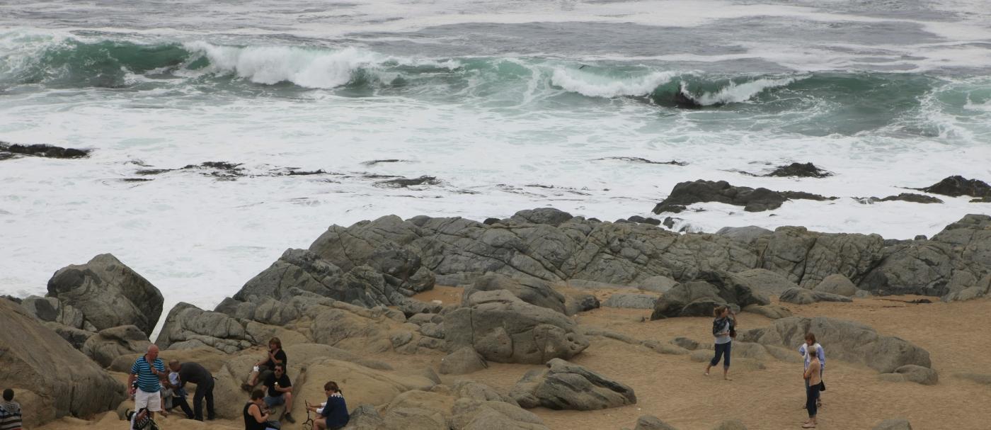 Imagen de la playa de Isla Negra