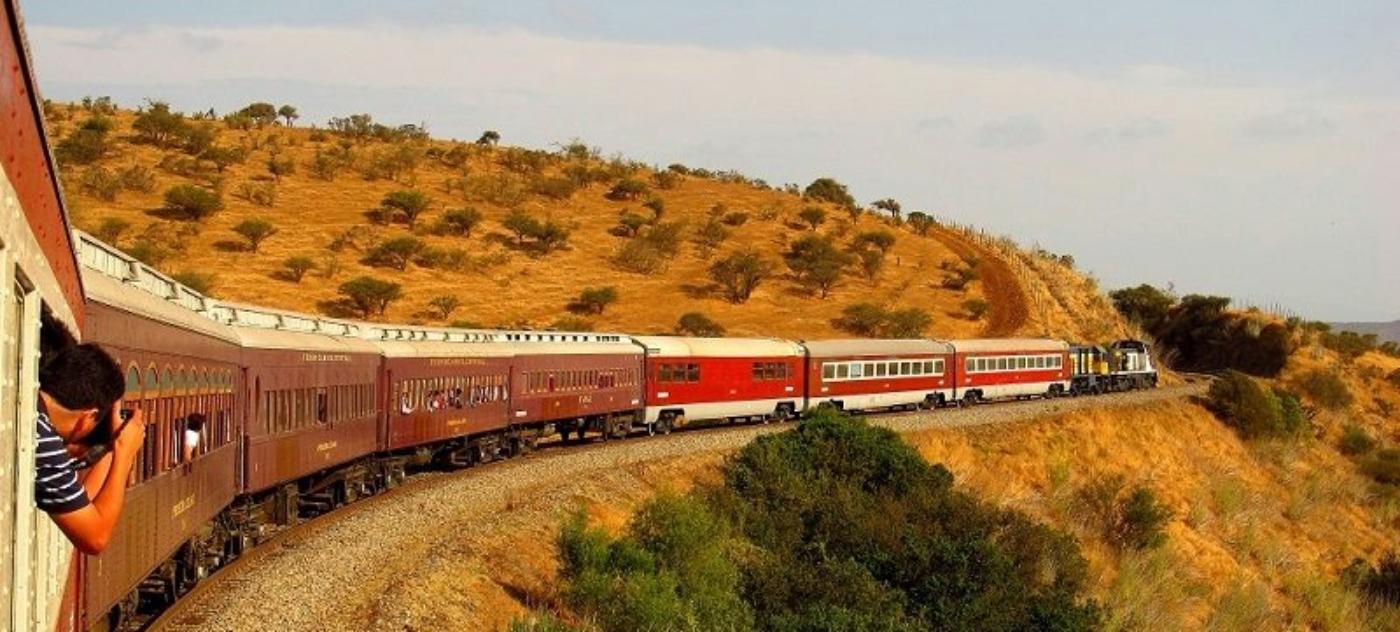 Imagen de un tren rumbo al sur de Chile