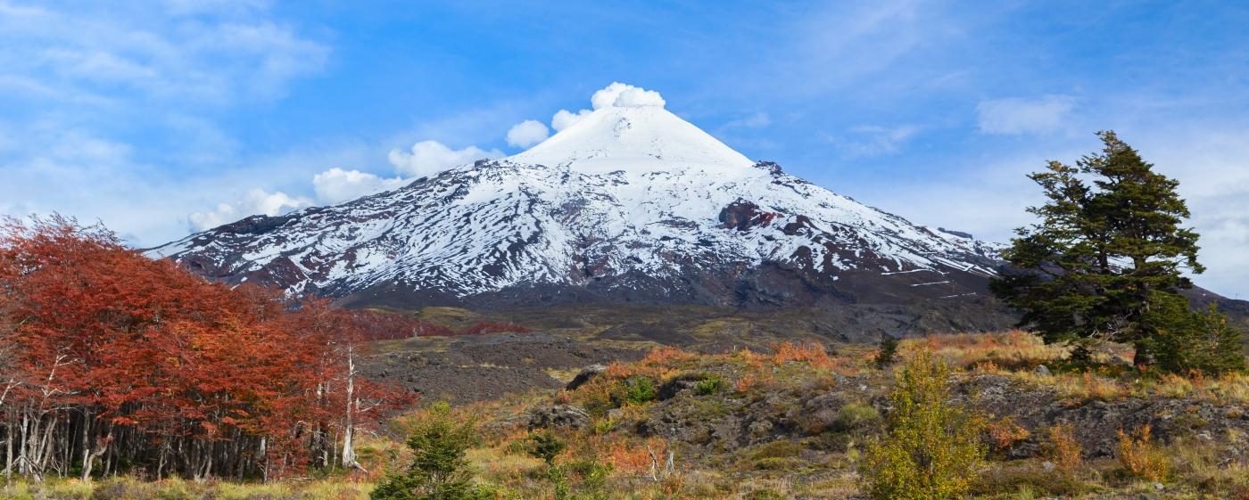 Imagen del imponente volcán Villarrica