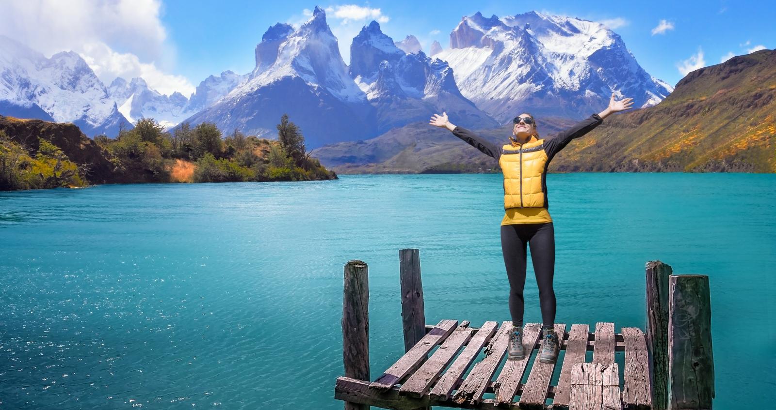 Imagen de una mujer en Las Torres del Paine