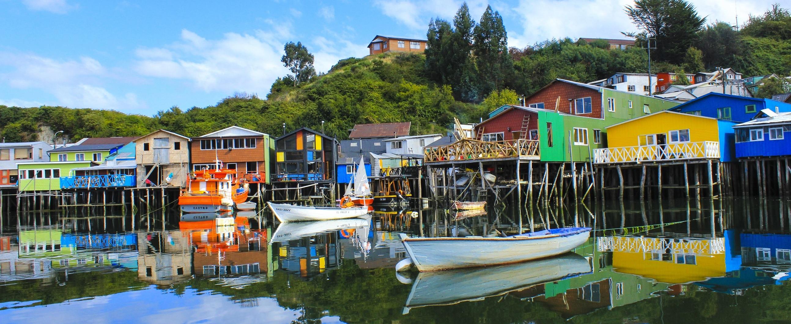 Imagen de los palafitos de Castro en Chiloé