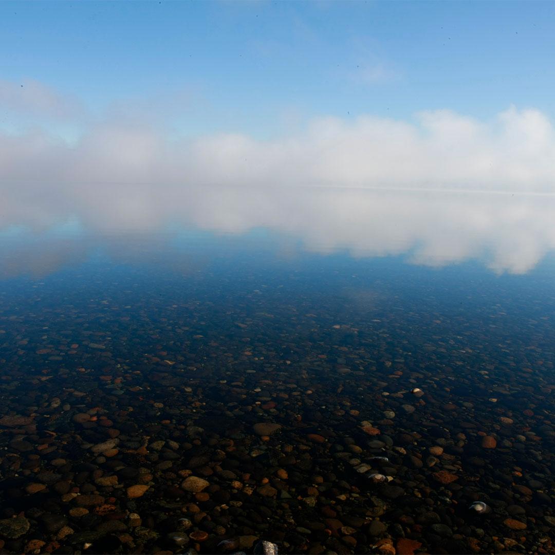 Nubes de playa Cucao, Chiloé
