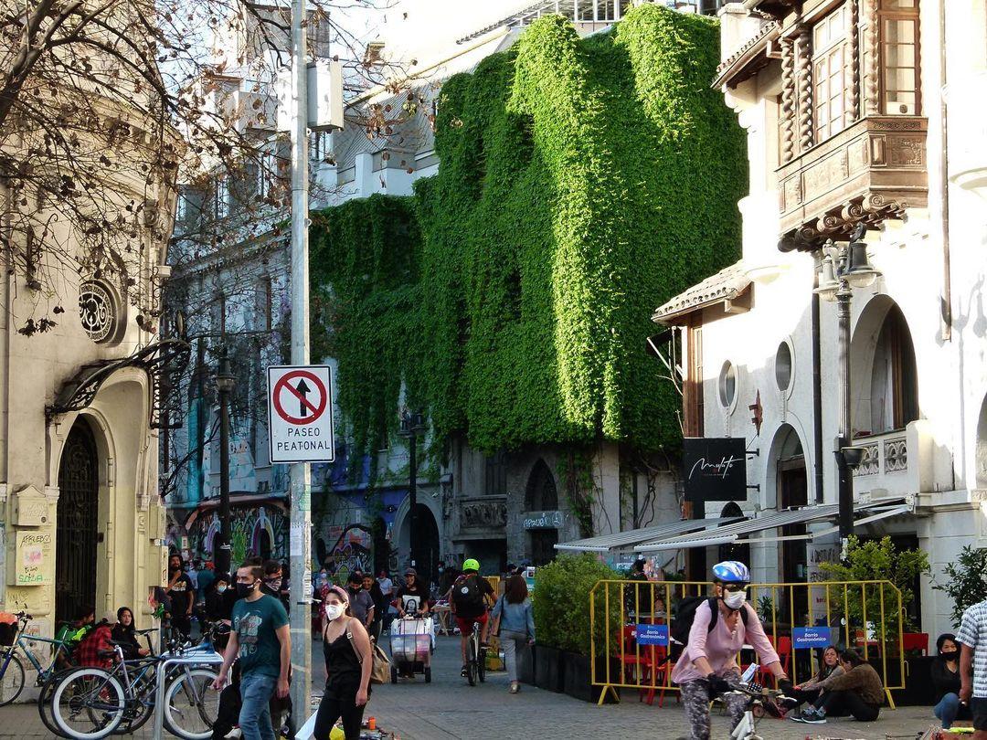 Plaza Mulato Gil de Castro, Barrio Lastarria, Heritage Route of Santiago de Chile.