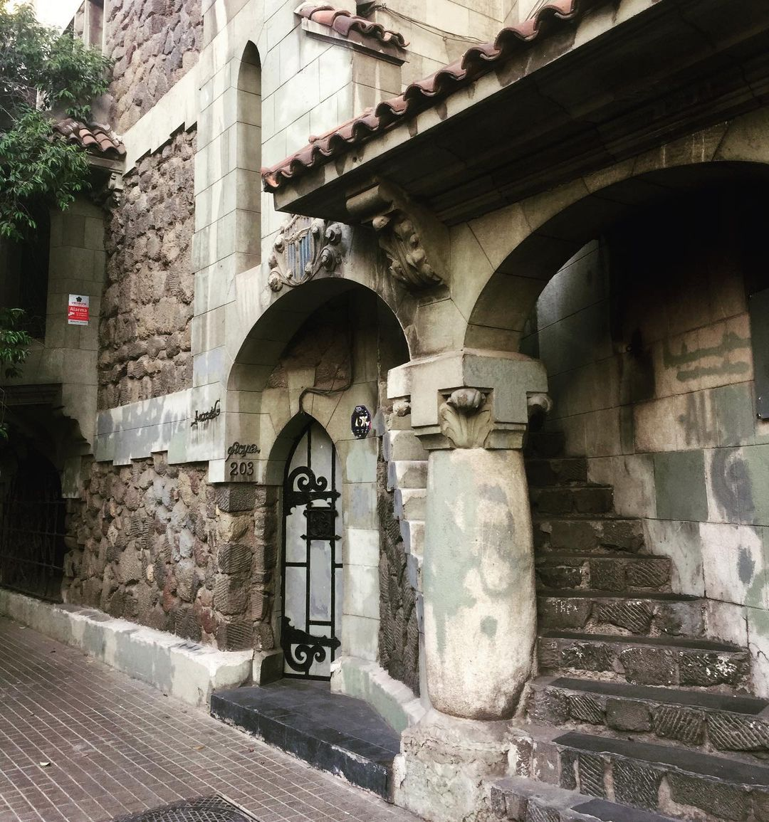 Façade of Casa Kulczewski, Historic Conservation site, Lastarria Neighborhood
