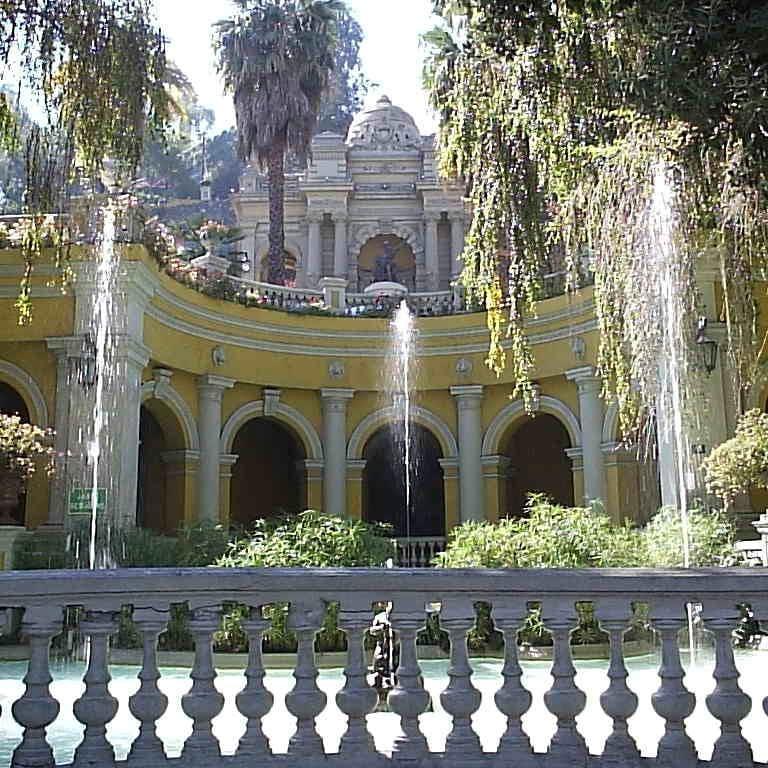 Entrance to the Santa Lucía Hill, Barrio Lastarria, Heritage Route of Santiago de Chile.