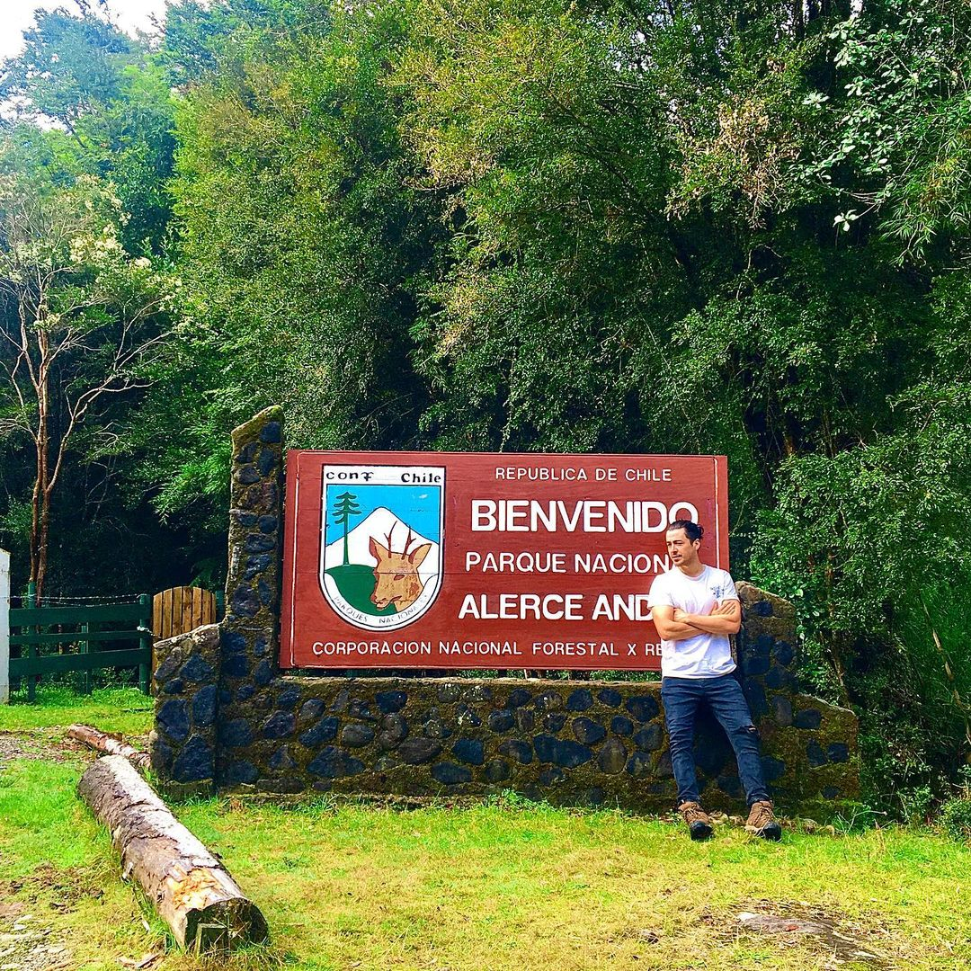 Chaicas entrance to the Alerce Andino National Park, Los Lagos region