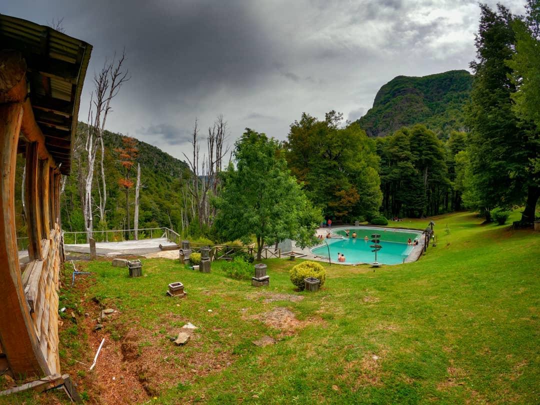 Piscina externa no Malleco Hot Springs