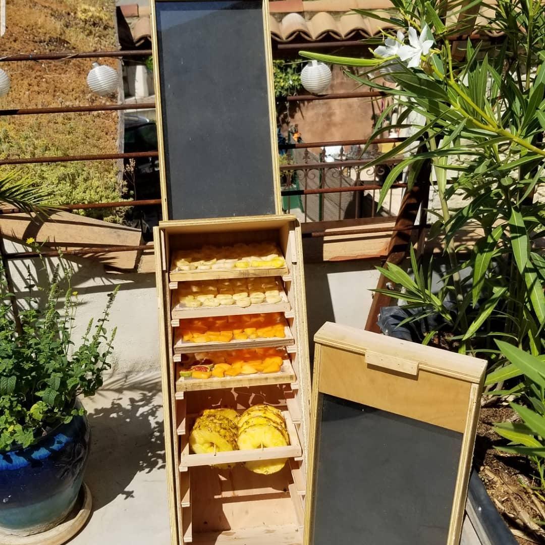 Deshidratador solar de frutas