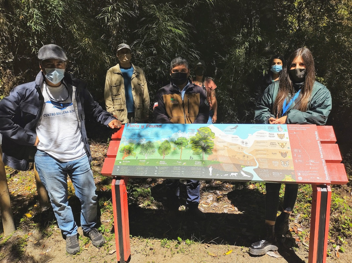 Map of the new interpretive trail at Ventisquero Yelcho