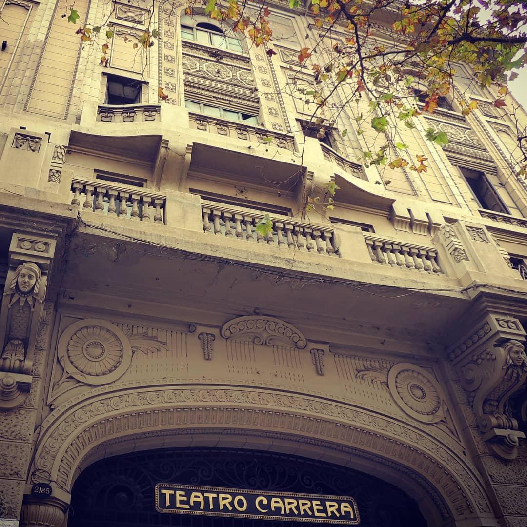 Façade of the Carrera Theater, Concha y Toro neighborhood, Santiago Heritage Route
