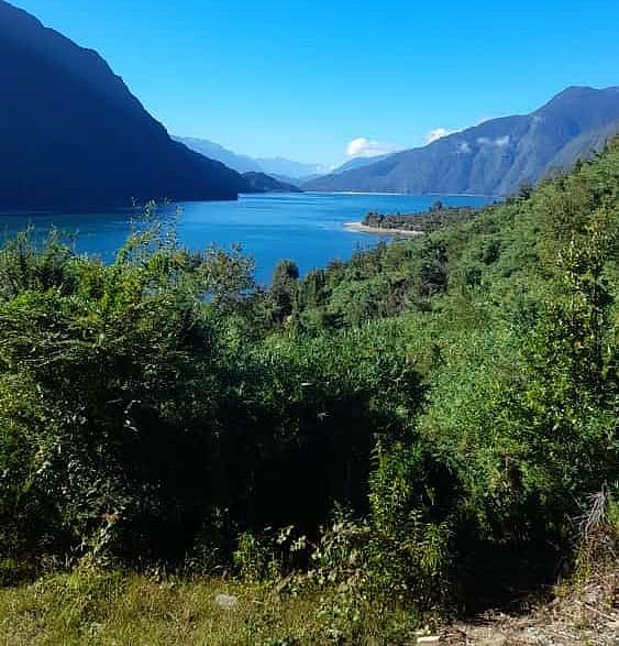View of the Reloncavi Estuary, Tagua Tagua Lake, southern Chile.