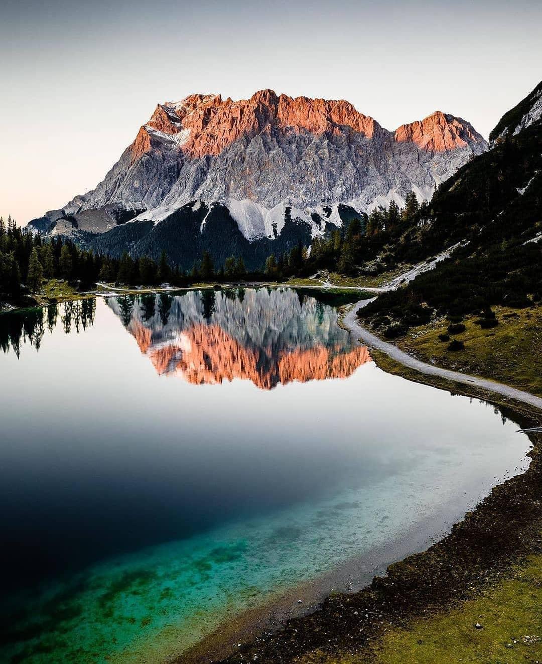 Cerro Castillo and lake, in the Aisen area, Chile