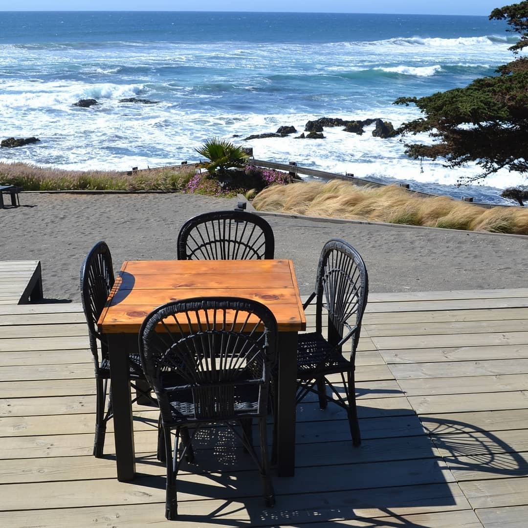 Restaurant on the shore of Llico beach, southern Chile