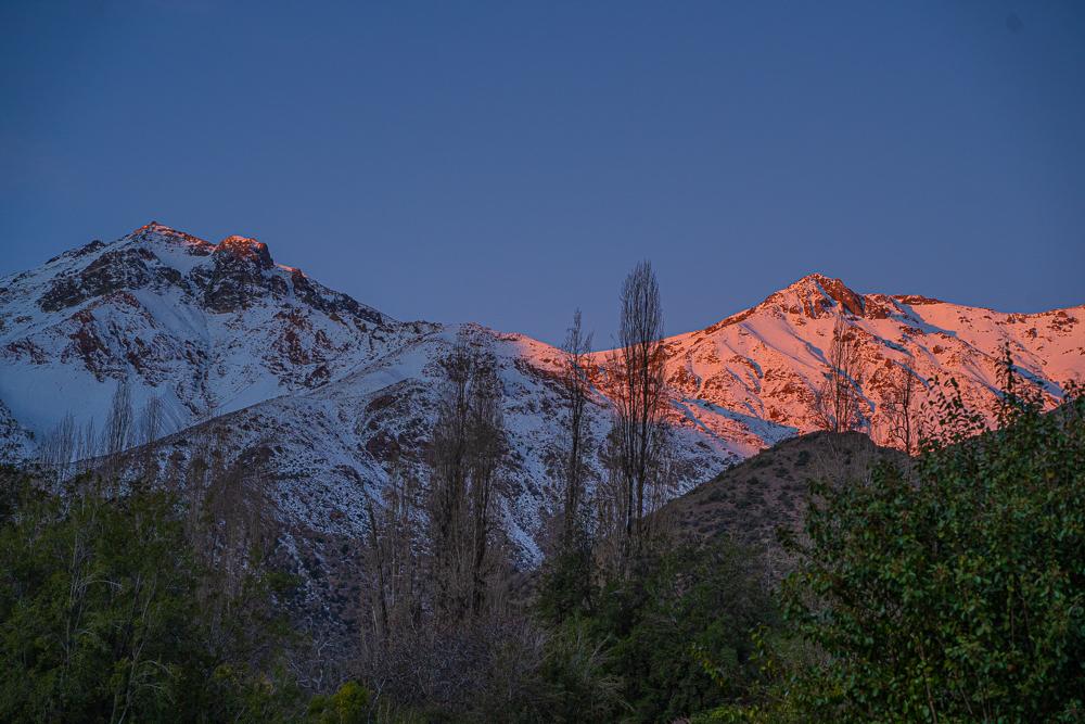Mountains in the San Francisco Canyon, San Esteban, Chile
