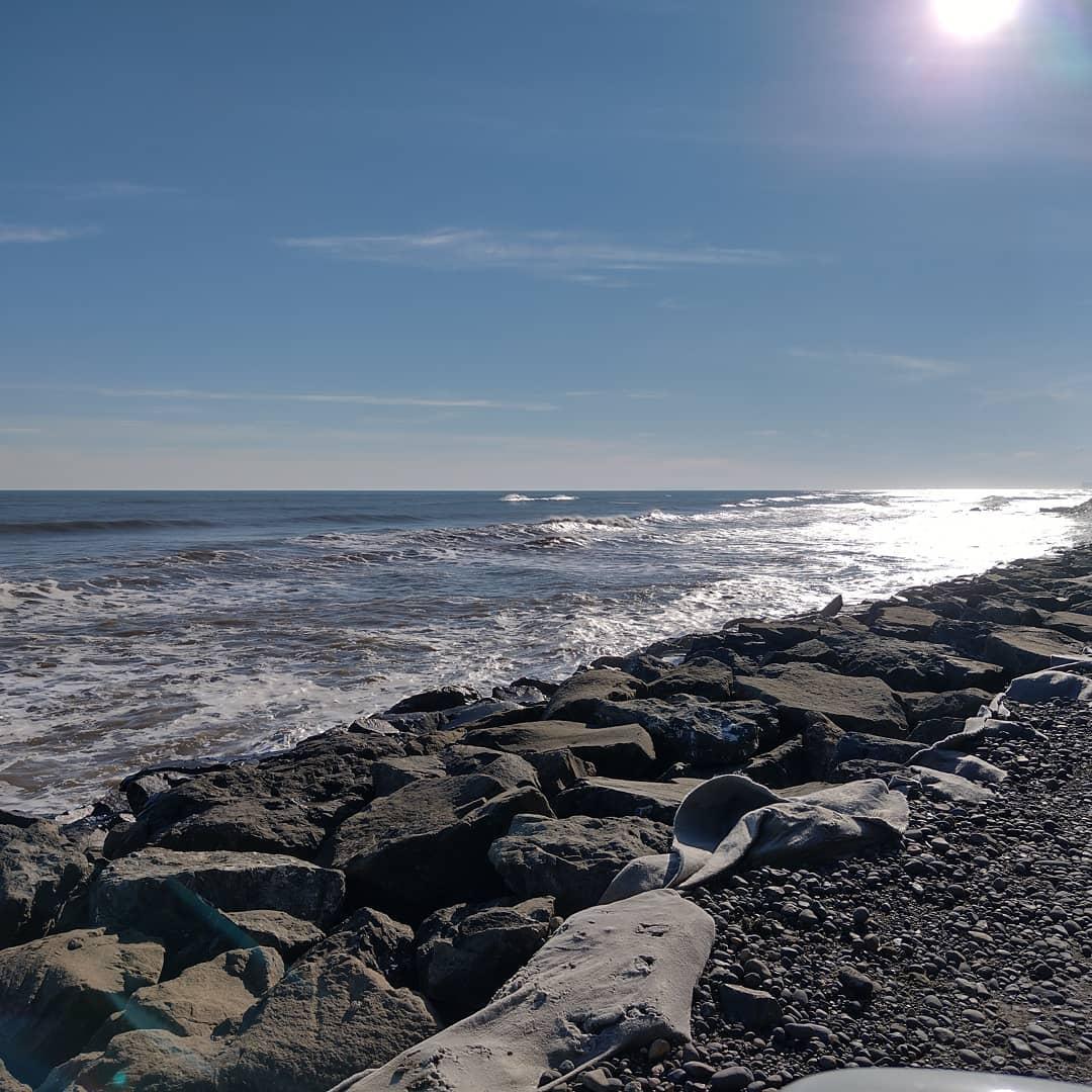 Playa Maule en Puerto Saavedra, Araucanía de Chile
