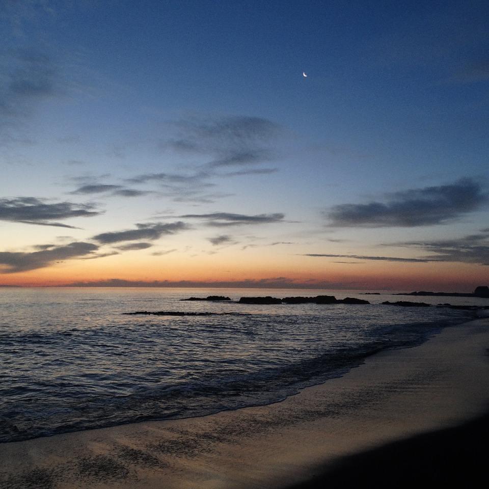 Atardecer en Playa Maule, Puerto Saavedra