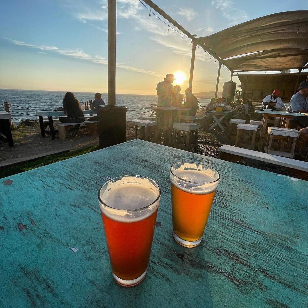 Dos vasos de cerveza artesanal
