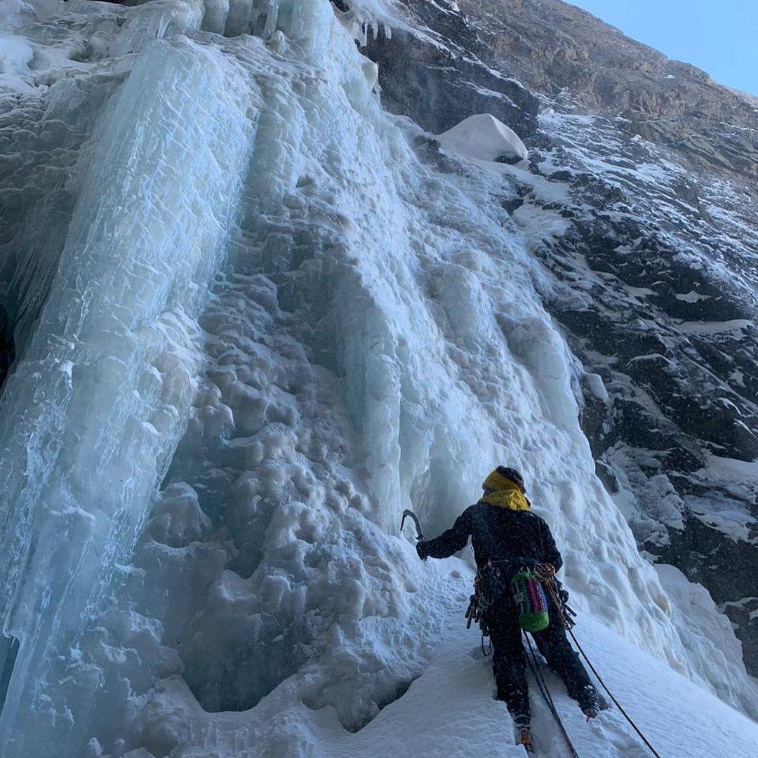 Escalada en cascada congelada, Chile