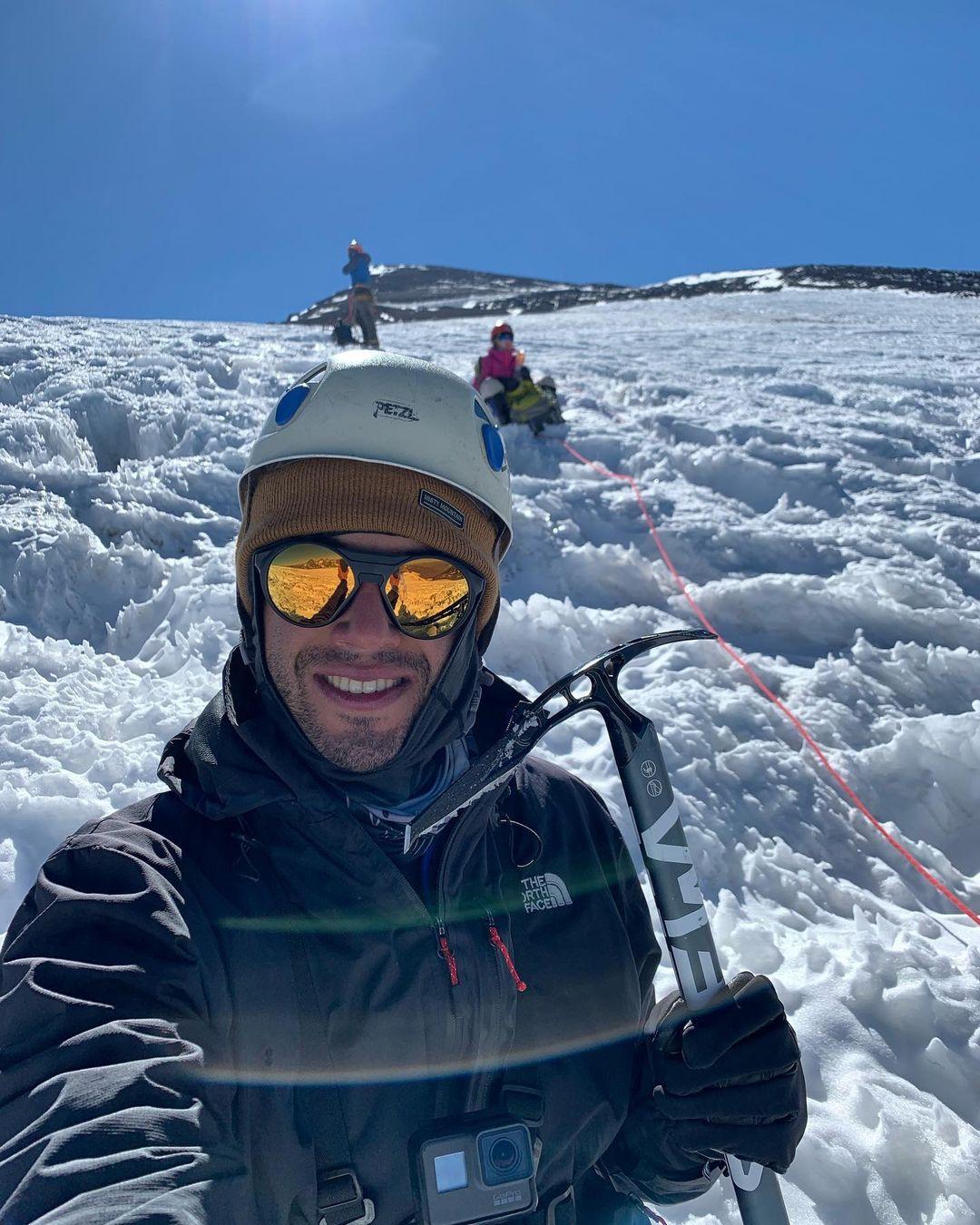 Escalada en hielo, Cerro Marmolejo, Cajón del Maipo, Chile