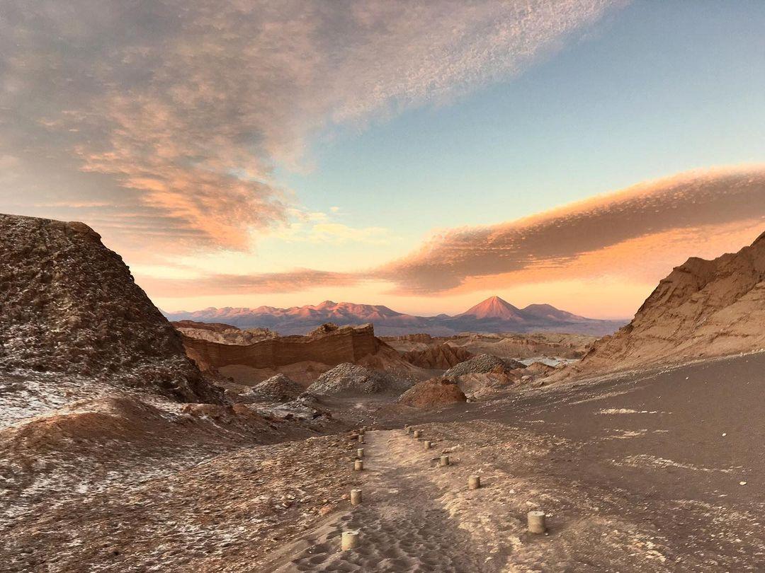 Valle de la Luna, desierto de Atacama, norte de Chile