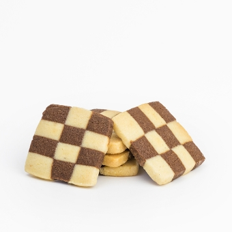Chess-checkered cookies