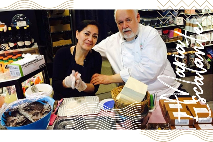 Chocolate connoisseur Maria Escalante bakes with Jan Hedh