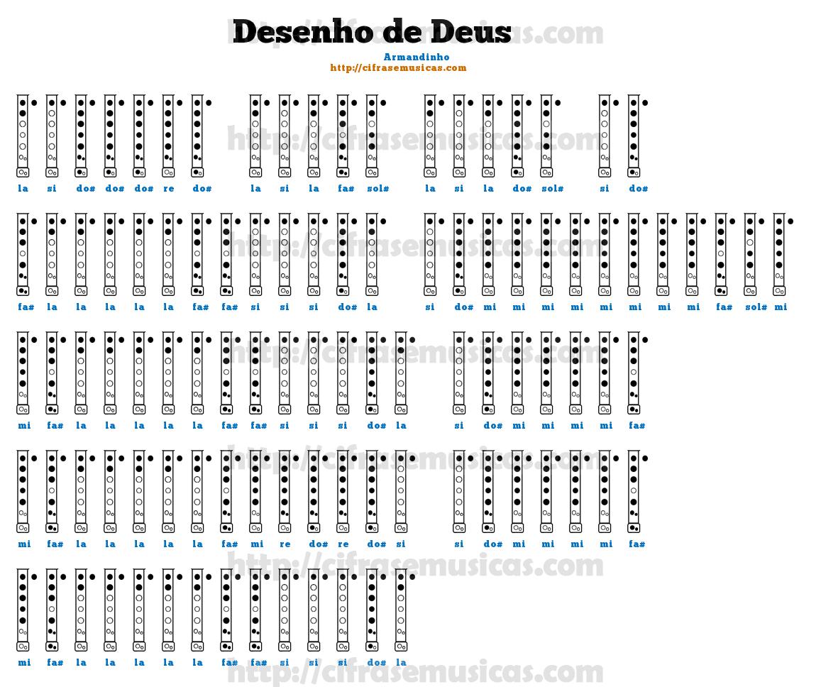 Cifras Desenhos ~ Cifra Desenho de Deus Armandinho para Flauta Doce Cifras e Musicas