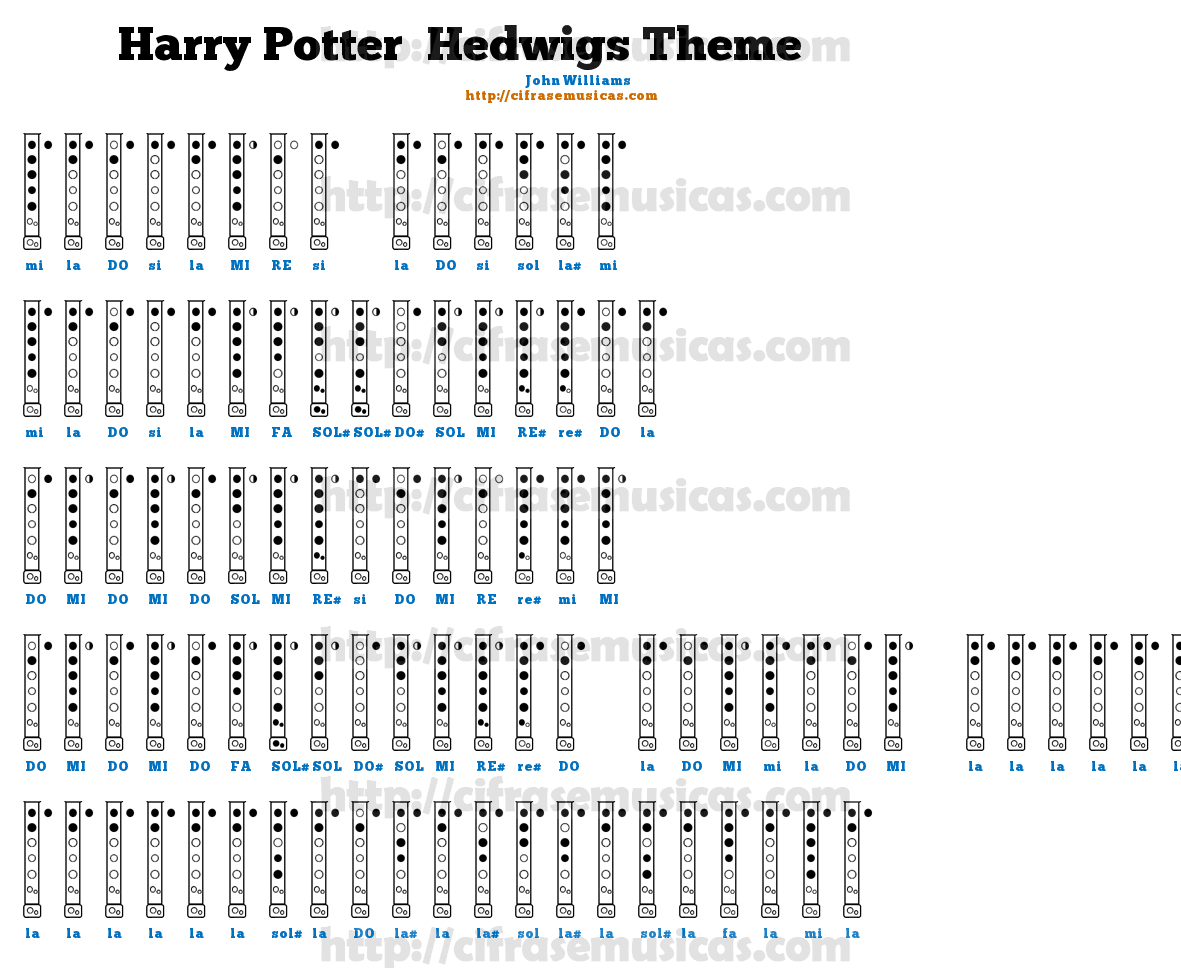 Hedwig's Theme - Piano Accompaniment Sheet Music Preview Page ...